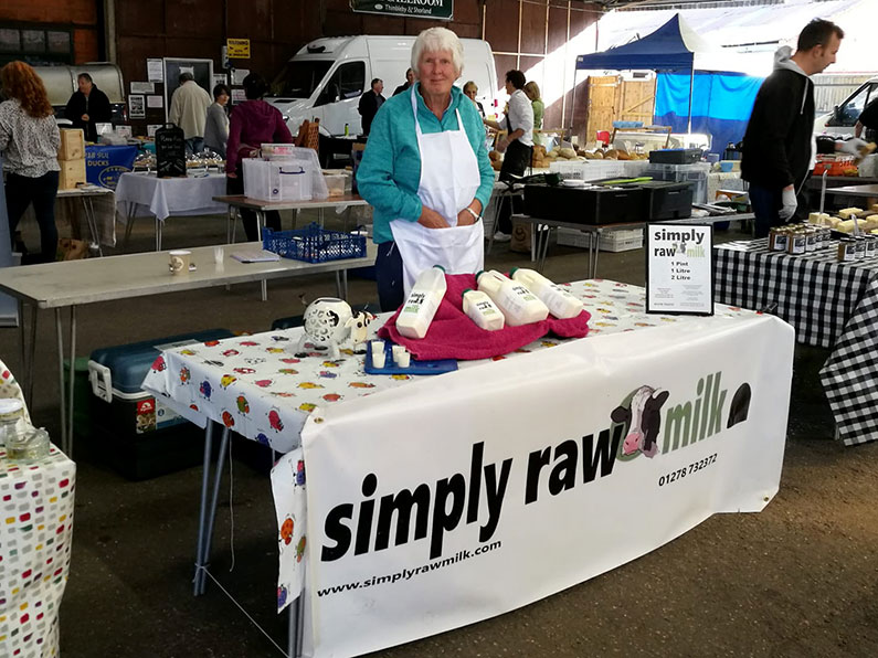 Simply Raw Milk with Rose at Reading Farmers Market
